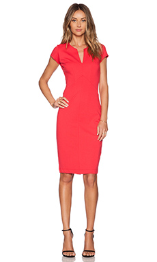 Eight Sixty Deep V Dress in Coral