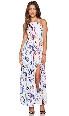 Eight Sixty Colors of the Wind Maxi Dress in White & Royal & Mint