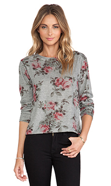 Eight Sixty Floral Sweater in Marengo & Multi