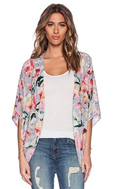 Eight Sixty Kimono in Lavender, Pink & Black