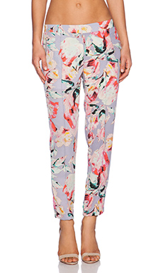 Eight Sixty Floral Pant in Lavender, Pink & Black