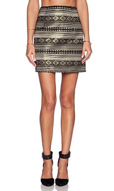 Eight Sixty Mini Skirt in Gold & Black