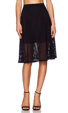 Eight Sixty Fish Net Midi Skirt in Black