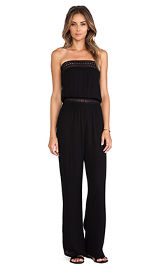 Eight Sixty Gauze Tube Jumpsuit in Black