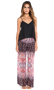Eight Sixty Turkish Paisley Jumpsuit in Black & Red