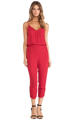 Eight Sixty Jumpsuit in Rococo Red