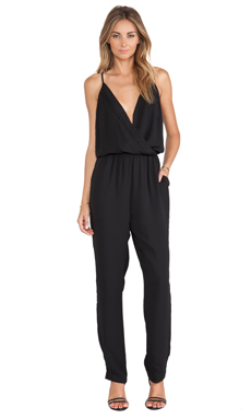 Eight Sixty Pleated Jumpsuit in Black