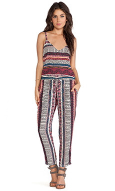 Eight Sixty Jumpsuit in Maroon Multi