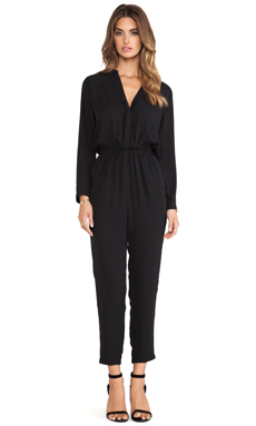 Eight Sixty Long Sleeve Jumpsuit in Black