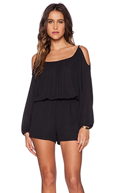 Eight Sixty Cold Shoulder Romper in Black