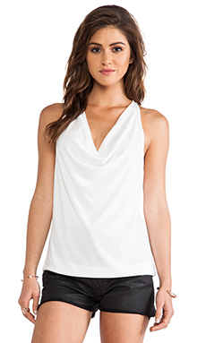 Eight Sixty Drape Top in White