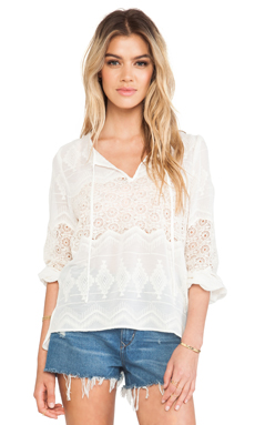 Eight Sixty Top in Ivory