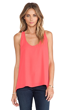 Eight Sixty Racerback Tank in Coral