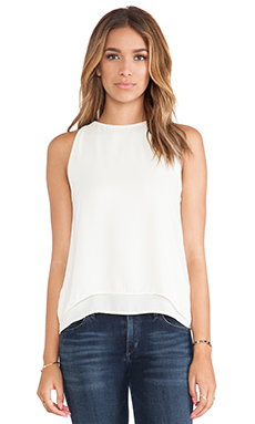 Eight Sixty Double Layer Tank in Ivory