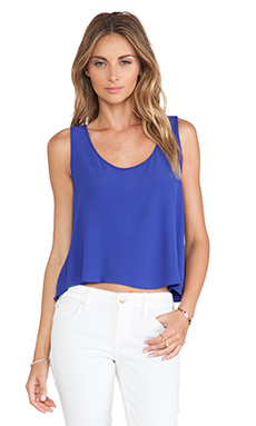 Eight Sixty Crop Top in Brazilian Blue