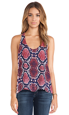 Eight Sixty Python Knotted Top en Rouge, Pourpre & Bleu Roy