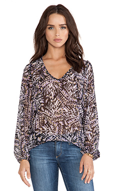 Eight Sixty Fern Gully Kimono in Black & Purple