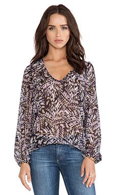 Eight Sixty Fern Gully Kimono en Black & Purple
