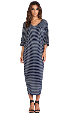 Erin Kleinberg Constance Maxi Dress in Navy & White