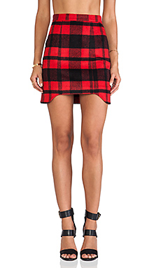 Erin Kleinberg Jo Skirt in Red Plaid