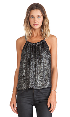 Erin Kleinberg Georgia Tank in Charcoal Grey Sequin