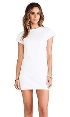 Elliott Label Baseball Mini Dress in White