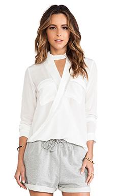 Elliott Label Cross Over Shirt in White