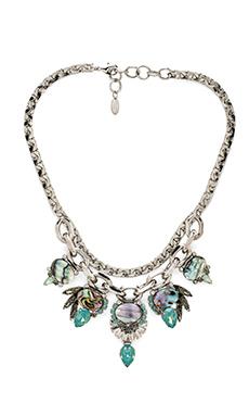Elizabeth Cole Bib Necklace in Mother of Pearl