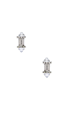 Elizabeth Cole Minnie Earrings in Crystal