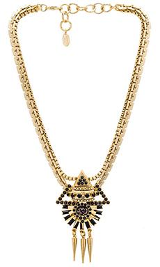 Elizabeth Cole Krieger Necklace in Jet Fleck