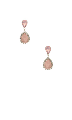 Elizabeth Cole Faye Earring in Rose Quartz