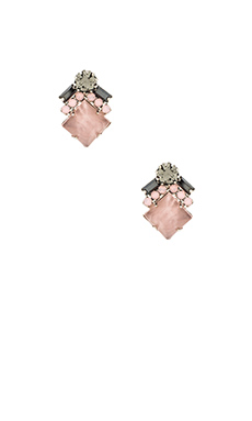 Elizabeth Cole Ryder Stud Earring in Rose Quartz