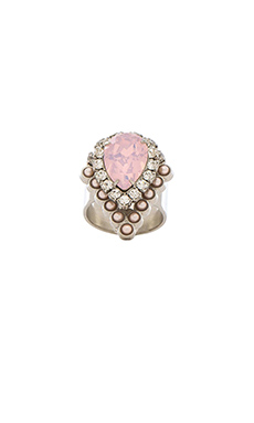 Elizabeth Cole Pierce Ring in Rose Quartz