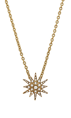 Elizabeth Cole Etoile Necklace in Antique Gold