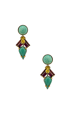 Elizabeth Cole Sanja Earring in Fuchsia & Lime