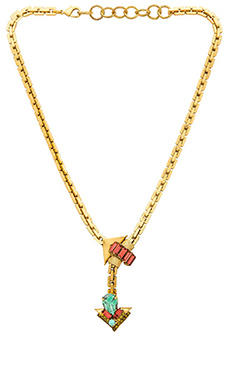 Elizabeth Cole Ryback Necklace in Fuchsia & Lime