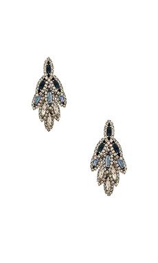 Elizabeth Cole Bacall Earring in Blue