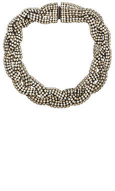 Elizabeth Cole Angelina Necklace in Nude