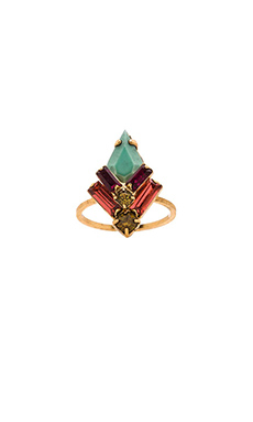 Elizabeth Cole Culora Ring in Fuchsia & Lime