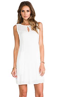 Ella Moss Stella Mesh Shift Dress in White