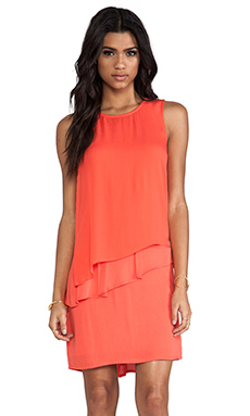 Ella Moss Stella Ruffle Dress in Coral
