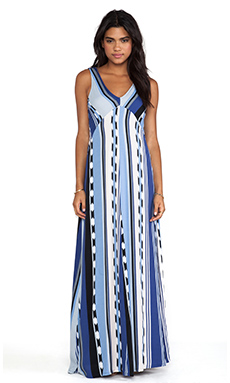 Ella Moss Surfer Stripe Maxi Dress in Ocean