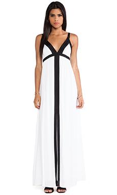 Ella Moss Stella Color Block Maxi Dress in White