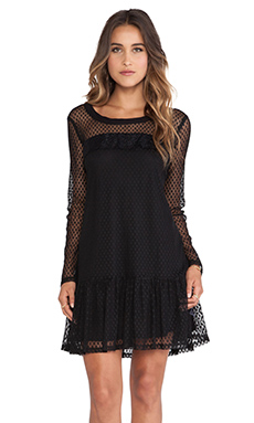 Ella Moss Nikita Lace Dress in Black