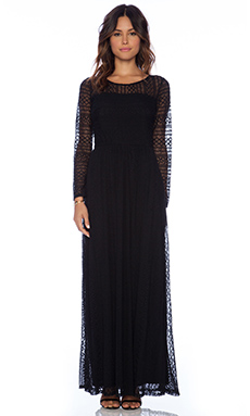 Ella Moss Emiline Maxi Dress in Black