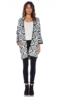 Ella Moss Maja Cardigan in Black & White
