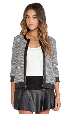 Ella Moss Genevieve Bomber Jacket in Black