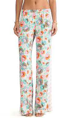 Ella Moss Delilah Floral Pants in Natural