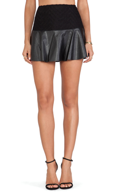 Ella Moss Trinity Faux Leather Skirt in Black