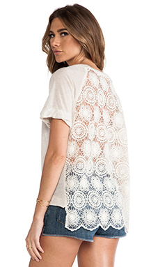 Ella Moss Hanalei Crochet Back Top in Natural